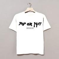 Image of Whyte Horses - Pop Or Not Japanese Promo T-shirt (White)