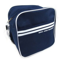 """Image of Soul Jazz Records - 7"""" Record Bag (Classic Navy Blue & White)"""