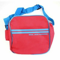 "Image of Soul Jazz Records - 7"" Record Bag (Red & Blue)"