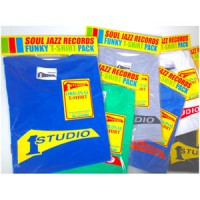 Image of Studio One - T-shirt - Royal Blue / Yellow Print