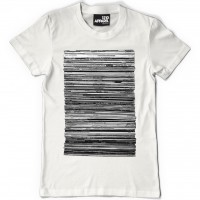 Image of Vinyl Junkie - T-shirt White