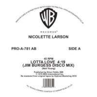 Image of Nicolette Larson - Lotta Love - Jim Burgess Disco Mix