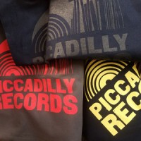 Image of Piccadilly Records - Grey Tote Bag - Coral Red Print