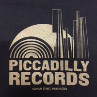 Image of Piccadilly Records - Logo T-Shirt - Summer 18: Navy / Silver