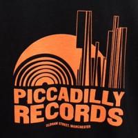 Image of Piccadilly Records - Logo T-Shirt - Summer 19: Black / Orange