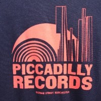 Image of Piccadilly Records - Logo T-Shirt - Summer 19: Dark Navy / Coral