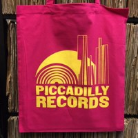 Image of Piccadilly Records - Acid Pink Tote Bag - Yellow Print