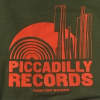 Piccadilly Records - Logo T-Shirt - Summer 20: Olive / Orange
