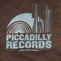 Piccadilly Records - Logo T-Shirt - Summer 20: Dark Heather / Pale Blue