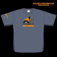 Image of Piccadilly Records - Logo T-Shirt - Heather Navy