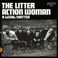 Image of The Litter - Action Woman / A Legal Matter - Blue Vinyl Edition