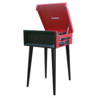 Image of Steepletone - SRP1R 15 - Record Player (Red)