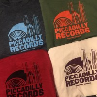 Image of Piccadilly Records - Logo T-Shirt - Summer 20: Dark Heather / Pale Blue