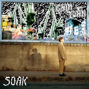 piccadilly records Christmas Album Art cover of grim town by soak