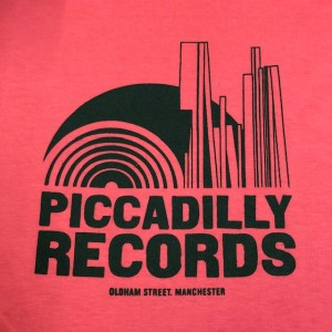 Image of Piccadilly Records - Logo T-Shirt - Summer 21: Coral / Jade