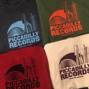 Image of Piccadilly Records - Logo T-Shirt - Summer 20: Olive / Orange