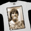 The Stone Roses<br>Ian Brown - 'Orange' - White T-shirt<br>